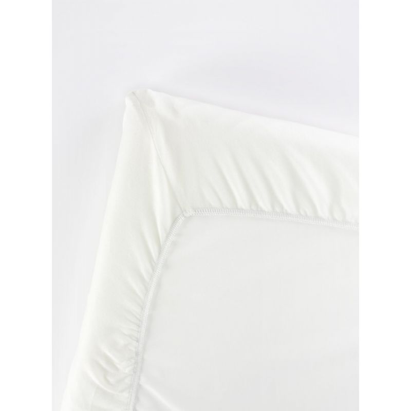 Image of BabyBjorn Fitted Sheet For Travel Cot Light