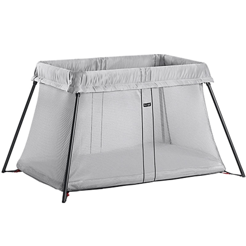 BabyBjorn Travel Cot-Light Silver