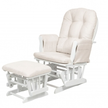 Kub Haywood Glider Nursing Chair and Stool-White