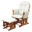 Kub Haywood Glider Nursing Chair and Stool-Natural