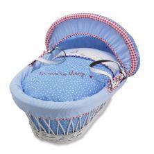Izziwotnot White Wicker Moses Basket-Petit Henri