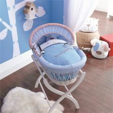 Izziwotnot White Wicker Moses Basket-Petit Henri + INCL Stand!