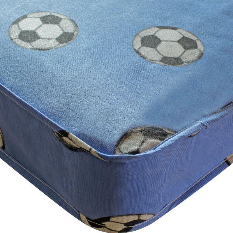 Kidsaw Single Sprung Football Mattress-Blue