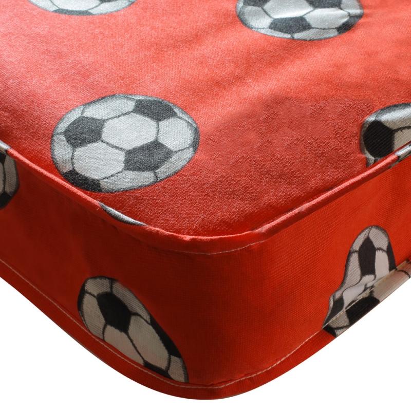 Kidsaw Single Sprung Football Mattress-Red