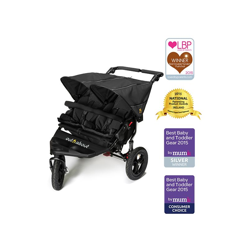 with Mattress Out n About Nipper Single Carrycot Raven Black
