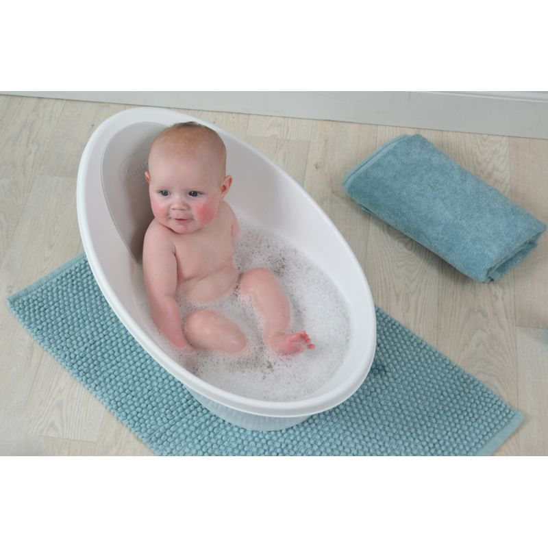 Shnuggle Baby Bath With Foam Back Rest-Grey   Kiddies Kingdom