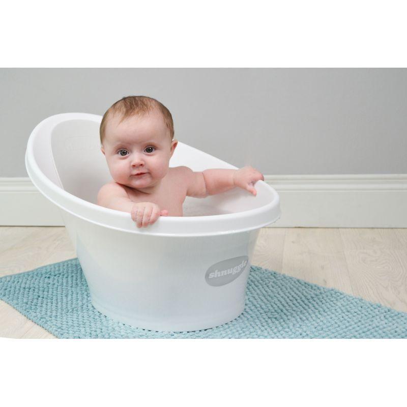 Shnuggle Baby Bath With Foam Back Rest-Grey | Kiddies Kingdom