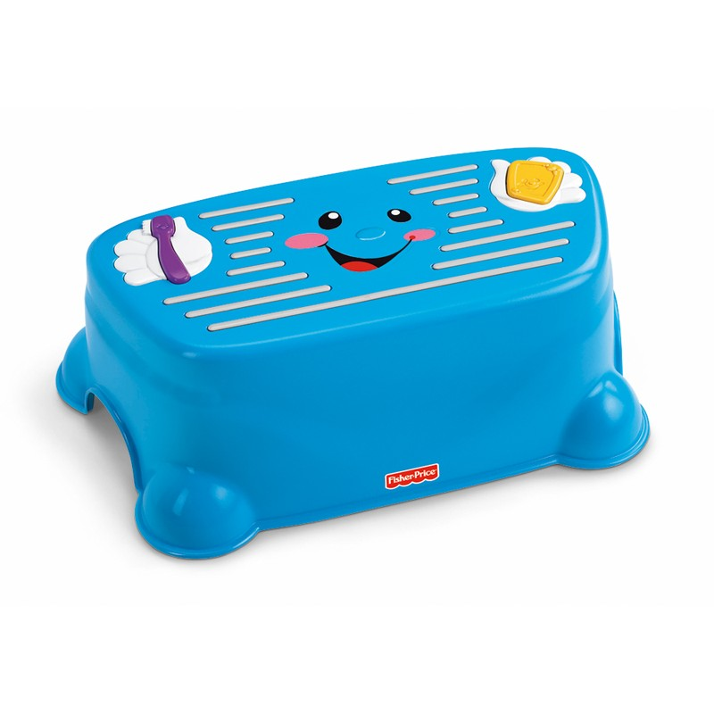 Fisher Price Tappin Tune Step Stool-Blue