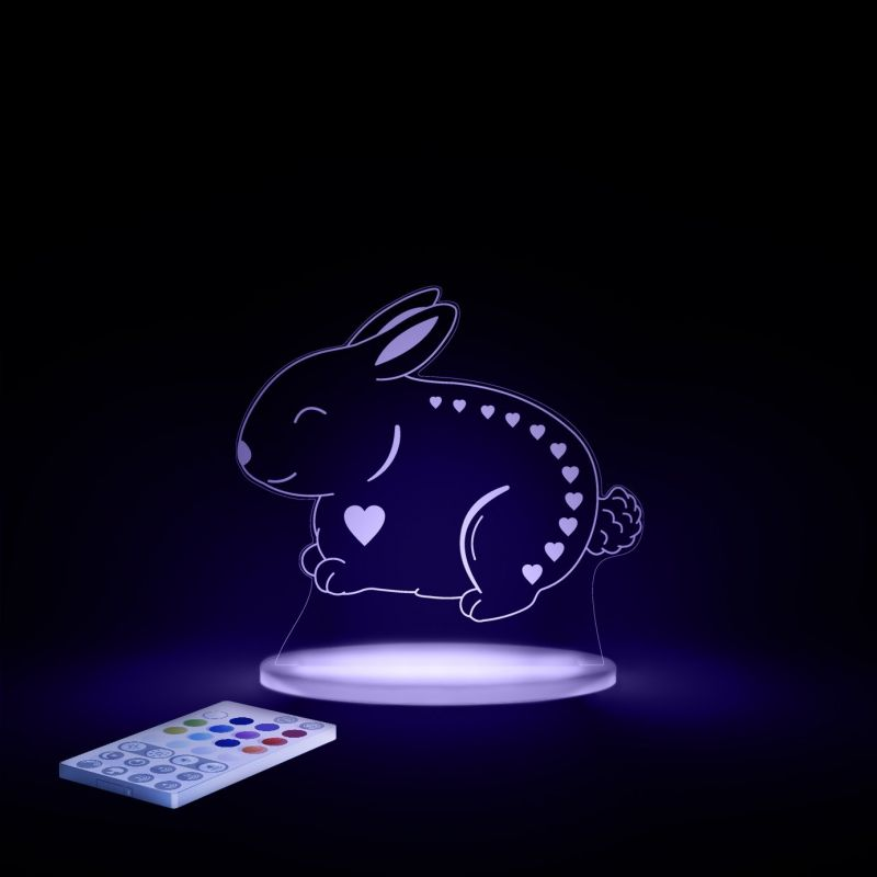 Image of Aloka Multi Coloured Children's Night Light-Bunny
