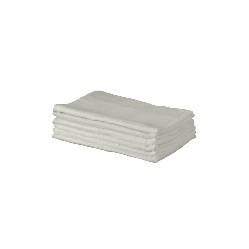 Kiddies Kingdom Deluxe 6 Pack Muslin Squares-Grey
