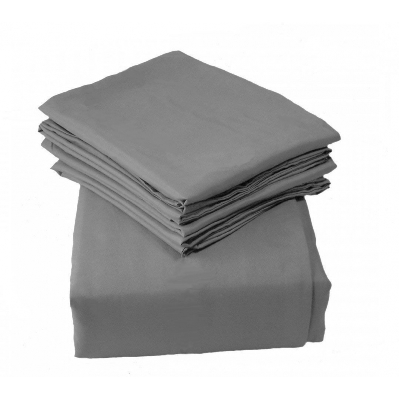Kiddies Kingdom Deluxe 2 Pack Cotbed Jersey Fitted Sheet-Grey (142 x 70)