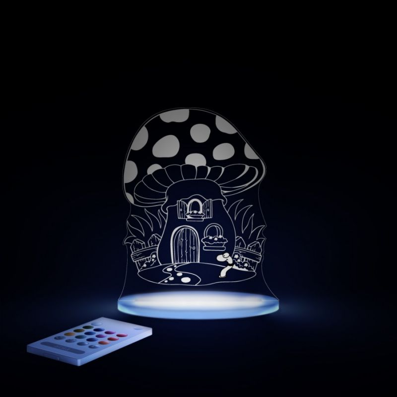Image of Aloka Multi Coloured Children's Night Light-Toad Stool