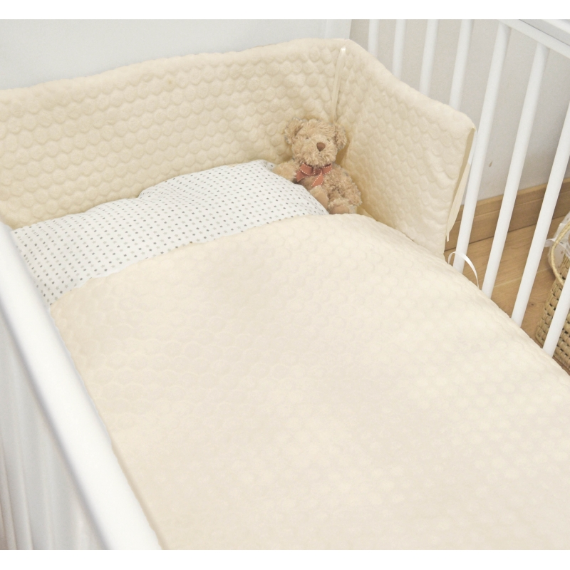 Kiddies Kingdome Marshmallow Cot/Cotbed LUXURY Quilt & Bumper Bedding Set-Cream