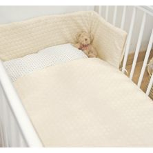 Kiddies Kingdom Marshmallow Cot/Cotbed LUXURY Quilt & Bumper Bedding Set-Cream