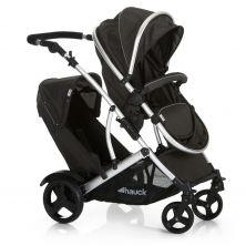 Hauck Duett 2 Tandem Pushchair-Black (New 2018)