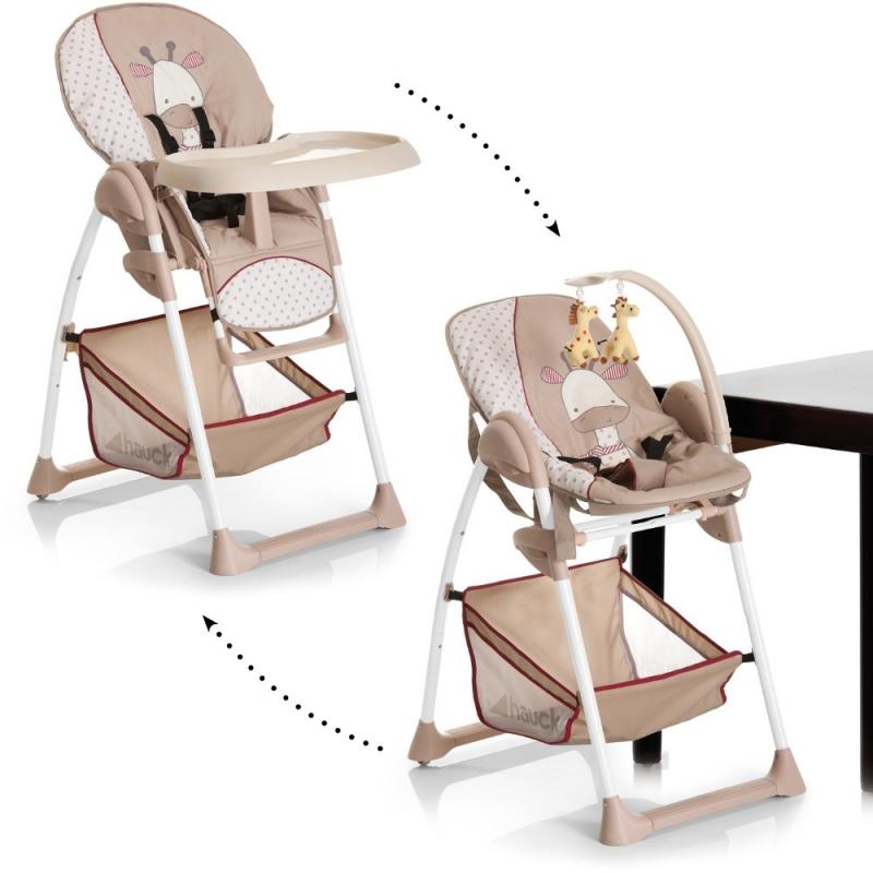 Hauck Sit n Relax 2-in1 Highchair/Bouncer-Giraffe (New)