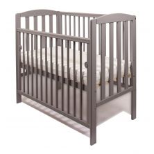Little Babes Tobie Space Saver DROPSIDE Cot-Grey