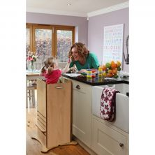 Little Helper Funpod Toddler Kitchen Safety Stand-Maple/Natural Finish
