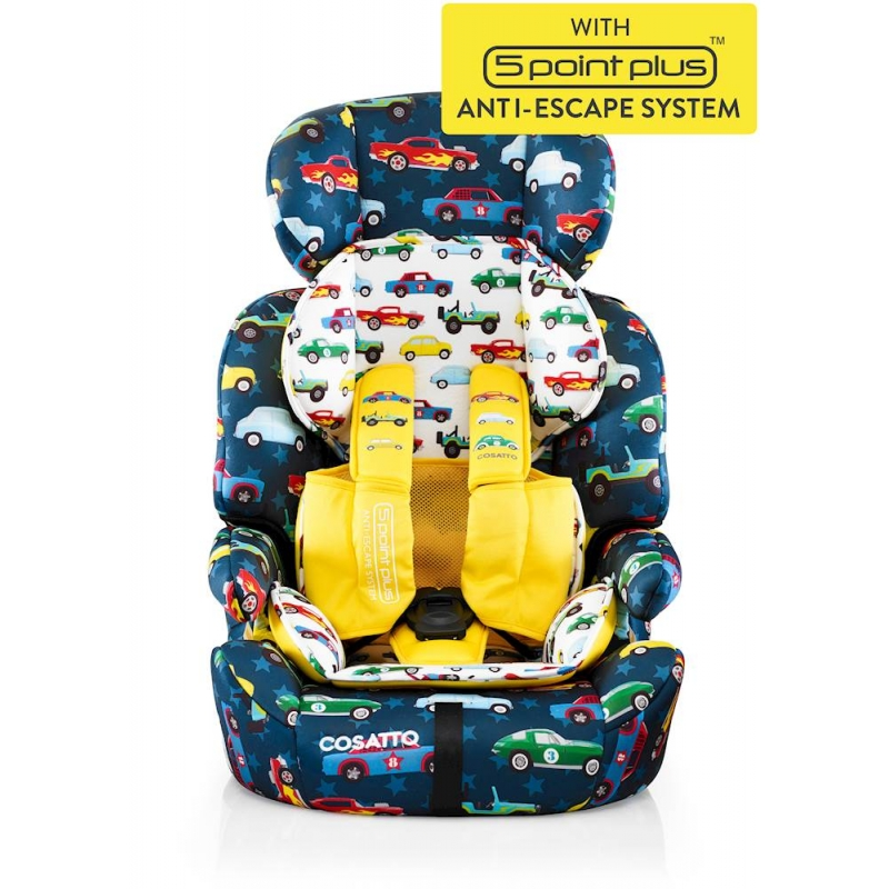 Cosatto Zoomi (5 Point Plus) 1/2/3 Car Seat-Go Brightly (New)