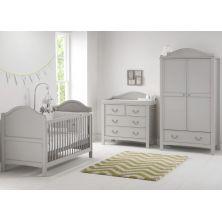 East Coast Toulouse 3 Piece Nursery Roomset & ADD HALF PRICE MATTRESS-Grey