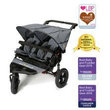 Out n About Nipper Double 360 V4 Stroller-Steel Grey