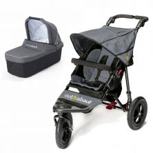 Out n About Nipper Single 360 V4 2in1 Pram System-Steel Grey