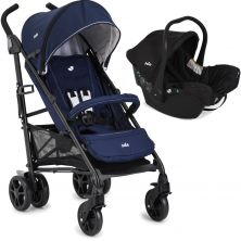 Joie Brisk Lx 2in1 Juva Classic Travel System-Midnight Navy