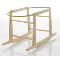 My Child Wooden Rocking Moses Basket Stand-Natural