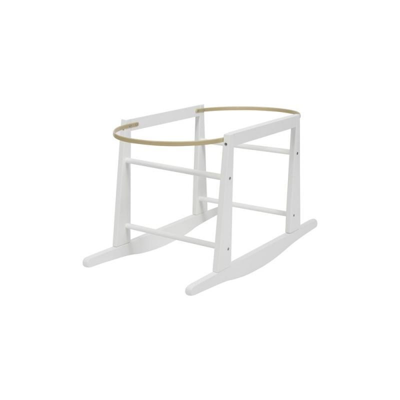 My Child Wooden Rocking Moses Basket Stand-White