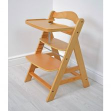 Kiddies Kingdom Alpha Highchair-Natural