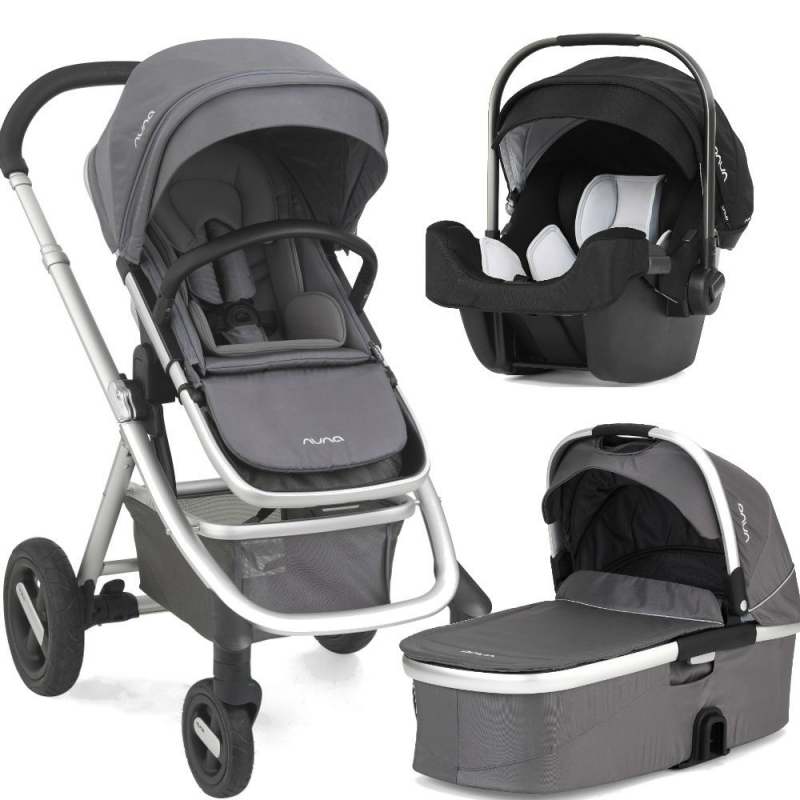 Nuna Ivvi Savi 3in 1 Travel System-Graphite