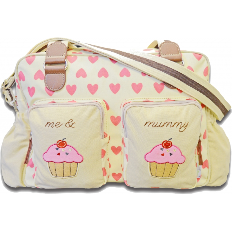 Kiddies Kingdom Deluxe Baby Changing Bag-Hearts