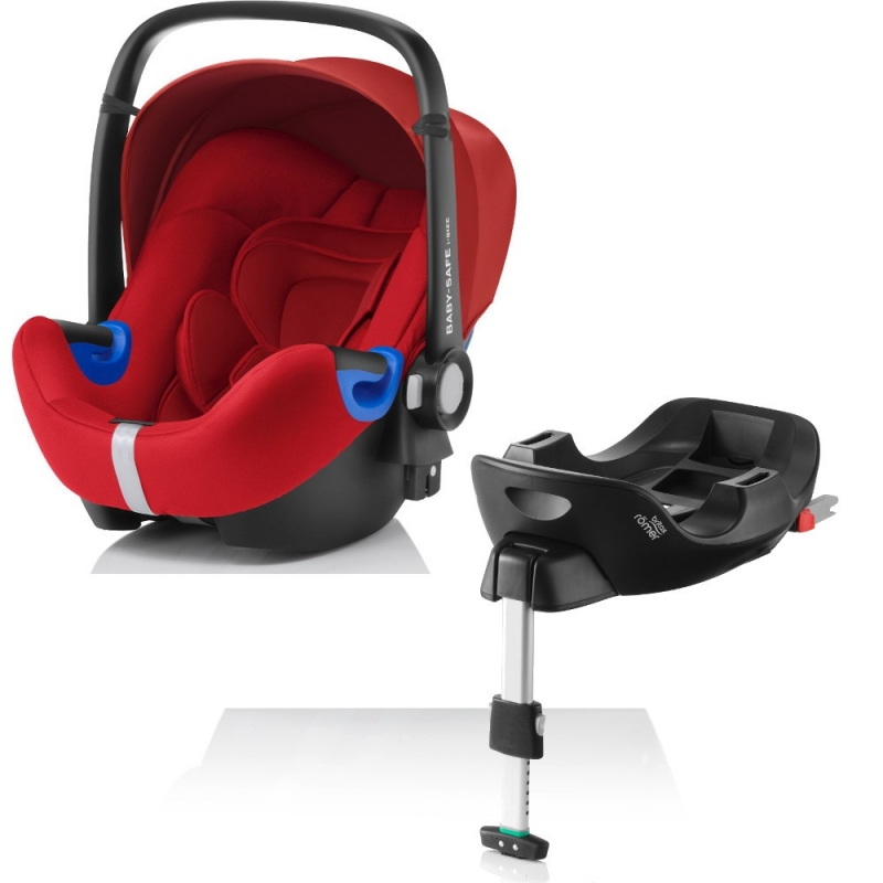 Britax Baby Safe i-Size Bundle-Flame Red
