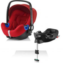 Britax Baby Safe i-Size Car Seat and i-Size Flex Base-Flame Red (New)
