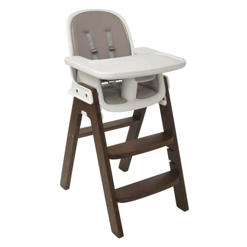 Oxo Tot Sprout Highchair-Taupe/Walnut