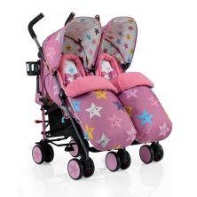 Cosatto Supa Dupa Twin Stroller-Happy Stars (New)
