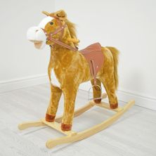 Kiddies Kingdom Large Rocking Horse With Sound-Autumn