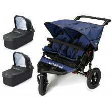 Out n About Nipper Double 360 V4 Pram System-Royal Navy (2 Carrycot)
