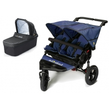 Out n About Nipper Double 360 V4 Pram System-Royal Navy (1 Carrycot)