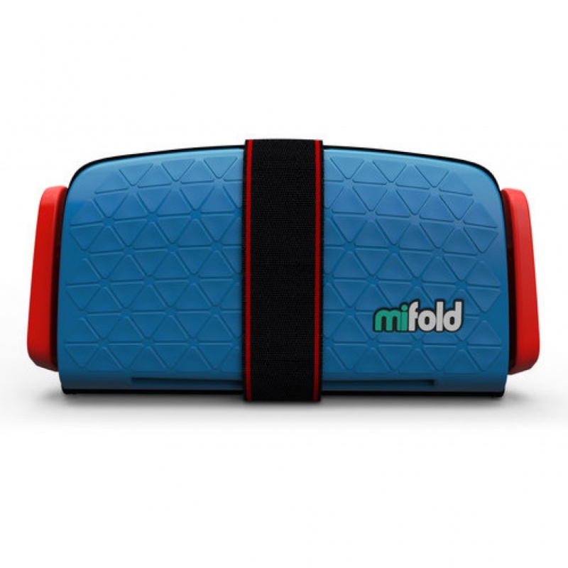Mifold The Grab And Go Booster Seat-Denim Blue
