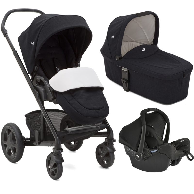 Joie Chrome DLX 3in1 Gemm Travel System-Navy Blazer (New)
