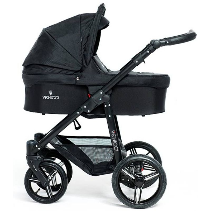 Venicci New 2 in 1 Pushchair-Black (Black Chassis)