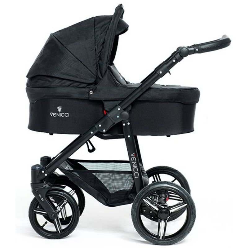 Venicci Soft Black Chassis 2in1 Pushchair-Black
