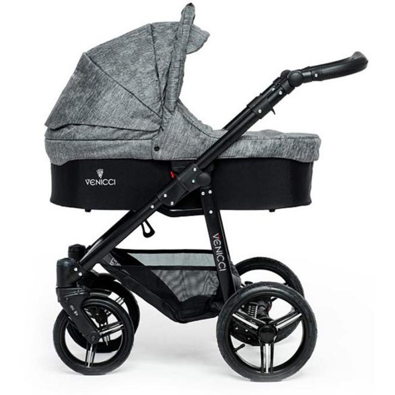 Venicci New 2 in 1 Pushchair-Denim Grey (Black Chassis)
