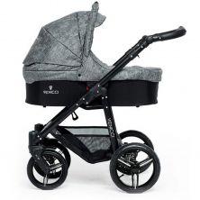 Venicci Soft Black Chassis 2in1 Pushchair-Denim Grey