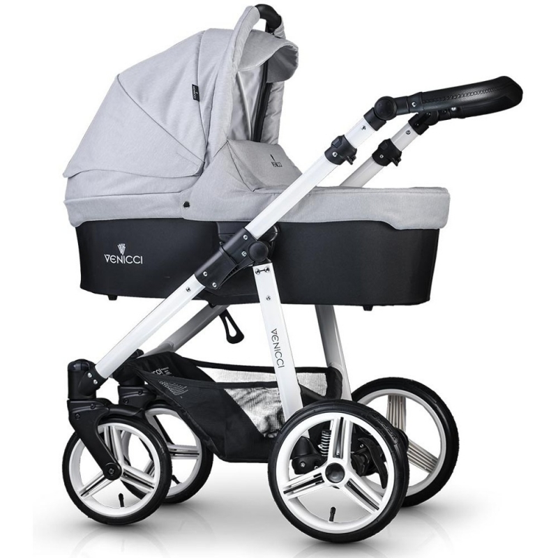 Venicci New White Chassis 2in1 Pushchair-Light Grey (New 2017)