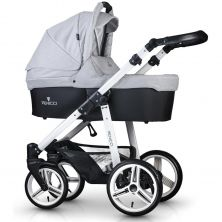 Venicci Soft White Chassis 2in1 Pushchair-Light Grey