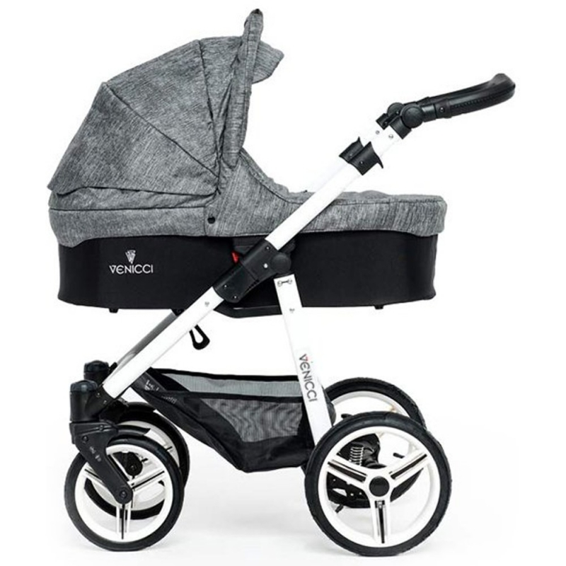 Venicci New White Chassis 2in1 Pushchair-Denim Grey (New 2017)