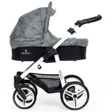 Venicci Soft White Chassis 2in1 Pushchair-Denim Grey