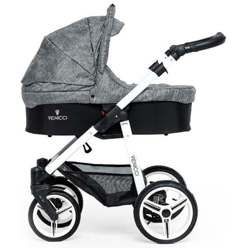 Venicci Soft White Chassis 2 in 1 Pushchair